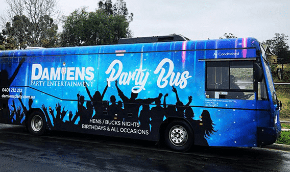newcastle party bus