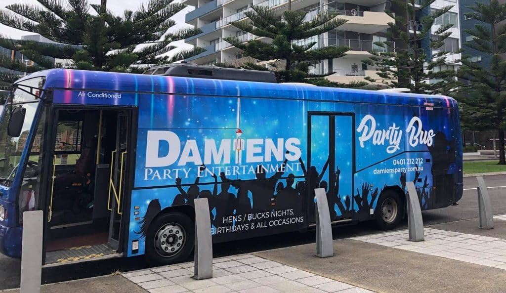 Newcastle Bucks Party Bus, Female Strippers, topless waitresses