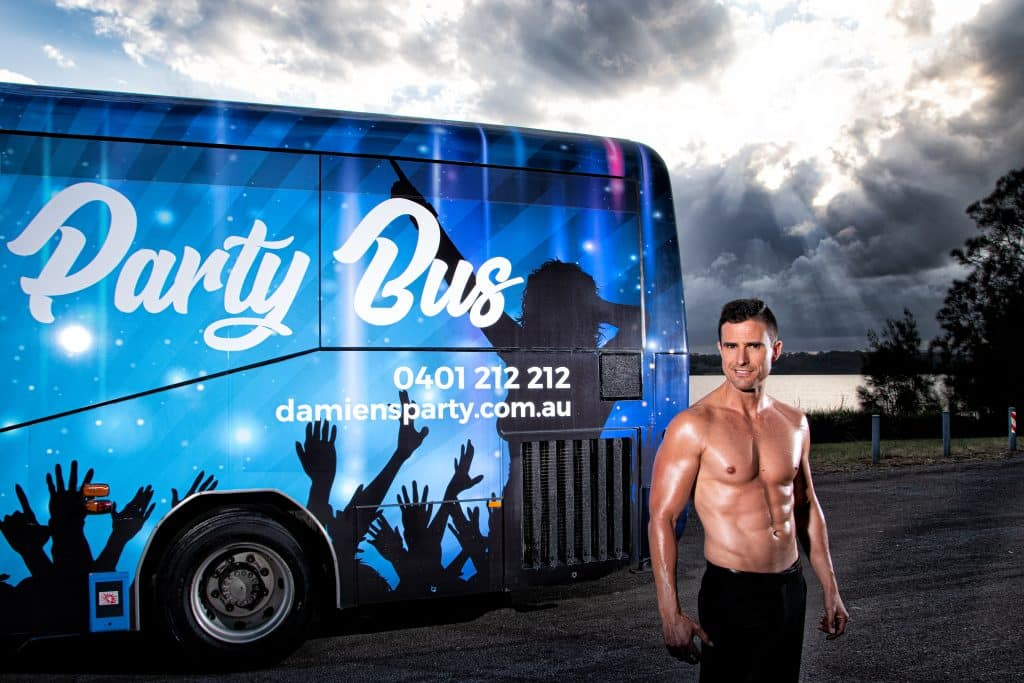 hens night central coast party bus