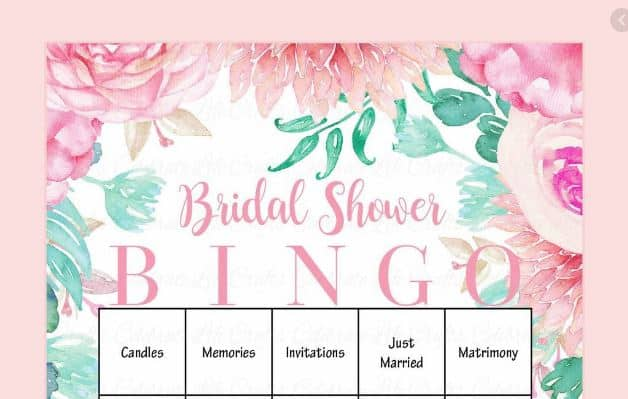 bridal shower bingo hens party games